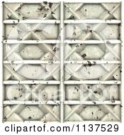 Clipart Of A Seamless 3d Metal Door Texture Background Pattern Version 10 Royalty Free CGI Illustration by Ralf61