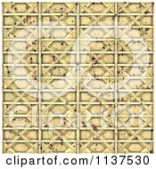 Clipart Of A Seamless 3d Metal Door Texture Background Pattern Version 11 Royalty Free CGI Illustration by Ralf61