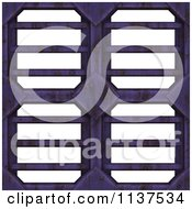 Clipart Of A Seamless 3d Purple Metal Vent Texture Background Pattern Royalty Free CGI Illustration