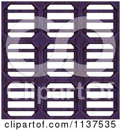 Clipart Of A Seamless 3d Purple Metal Vent Texture Background Pattern Version 2 Royalty Free CGI Illustration