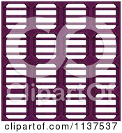 Clipart Of A Seamless 3d Pink Metal Vent Texture Background Pattern Royalty Free CGI Illustration