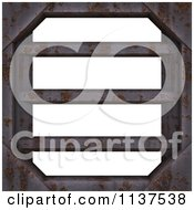 Clipart Of A Seamless 3d Metal Vent Texture Background Pattern Royalty Free CGI Illustration