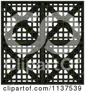 Clipart Of A Seamless 3d Metal Vent Texture Background Pattern Version 2 Royalty Free CGI Illustration