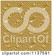 Clipart Of A Seamless Yellow Truchet Tile Texture Background Pattern Royalty Free CGI Illustration