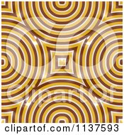 Clipart Of A Seamless Yellow Truchet Tile Texture Background Pattern Version 3 Royalty Free CGI Illustration