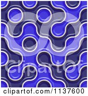 Clipart Of A Seamless 3d Blue Truchet Tile Texture Background Pattern Version 3 Royalty Free CGI Illustration