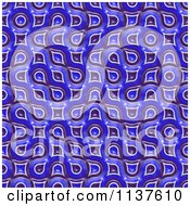 Clipart Of A Seamless 3d Blue Truchet Tile Texture Background Pattern Version 13 Royalty Free CGI Illustration