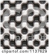 Clipart Of A Seamless 3d Truchet Tile Texture Background Pattern Royalty Free CGI Illustration