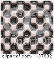 Clipart Of A Seamless 3d Truchet Tile Texture Background Pattern Version 4 Royalty Free CGI Illustration