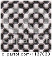 Clipart Of A Seamless 3d Truchet Tile Texture Background Pattern Version 5 Royalty Free CGI Illustration