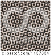 Clipart Of A Seamless 3d Truchet Tile Texture Background Pattern Version 6 Royalty Free CGI Illustration