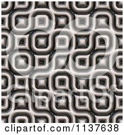 Clipart Of A Seamless 3d Truchet Tile Texture Background Pattern Version 10 Royalty Free CGI Illustration