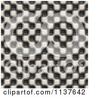 Clipart Of A Seamless 3d Truchet Tile Texture Background Pattern Version 14 Royalty Free CGI Illustration