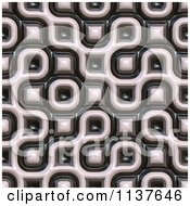 Clipart Of A Seamless 3d Truchet Tile Texture Background Pattern Version 18 Royalty Free CGI Illustration