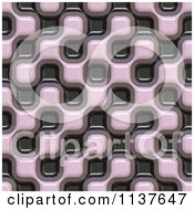 Clipart Of A Seamless 3d Truchet Tile Texture Background Pattern Version 19 Royalty Free CGI Illustration