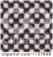 Clipart Of A Seamless 3d Truchet Tile Texture Background Pattern Version 20 Royalty Free CGI Illustration