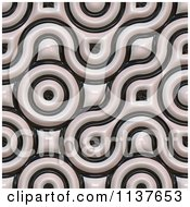 Clipart Of A Seamless 3d Truchet Tile Texture Background Pattern Version 25 Royalty Free CGI Illustration