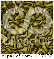 Clipart Of A Seamless Green Tangle Texture Background Pattern Version 12 Royalty Free CGI Illustration