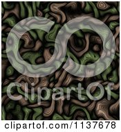 Clipart Of A Seamless Green Tangle Texture Background Pattern Version 13 Royalty Free CGI Illustration