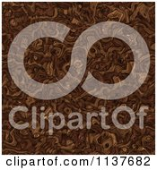 Seamless Brown Tangle Texture Background Pattern