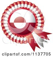 Clipart Of A Shiny Greenland Flag Rosette Bowknots Medal Award Royalty Free Vector Illustration