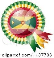 Shiny Grenada Flag Rosette Bowknots Medal Award