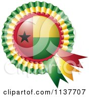 Clipart Of A Shiny Guinea Bissau Flag Rosette Bowknots Medal Award Royalty Free Vector Illustration