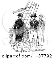 Poster, Art Print Of Retro Vintage Black And White Navy Men On A Ship 3