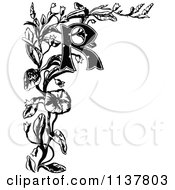 Clipart Of A Retro Vintage Black And White Ornate Letter R Border Royalty Free Vector Illustration
