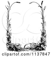 Clipart Of A Retro Vintage Black And White Border Of Reeds Royalty Free Vector Illustration by Prawny Vintage