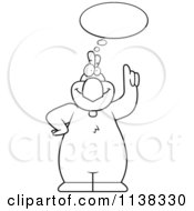 Cartoon Clipart Of An Outlined Chicken Talking Black And White Vector Coloring Page