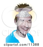 Young Open Minded Man Clipart Illustration