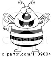 Black And White Chubby Bee Waving