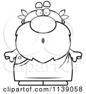 Cartoon Clipart Of A Black And White Surprised Greek Man Vector Outlined Coloring Page by Cory Thoman