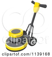 Clipart Of A Floor Polisher Buffer Machine Royalty Free Vector Illustration by Leo Blanchette
