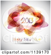 Clipart Of A Happy New Year 2013 Greeting With Abstract Shapes Royalty Free Vector Illustration