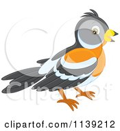 Cartoon Of A Cute Bird Vector Clipart by Alex Bannykh
