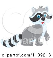 Cartoon Of A Cute Walking Raccoon Royalty Free Vector Clipart by Alex Bannykh