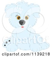 Cartoon Of A Cute White Puppy Royalty Free Vector Clipart by Alex Bannykh