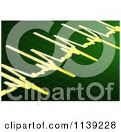 Clipart Of A Green And Yellow Electrocardiogram Royalty Free CGI Illustration by MacX
