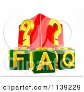 Clipart Of 3d Green And Red Faq And Question Mark Cubes Royalty Free CGI Illustration by MacX