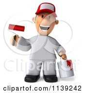 Clipart Of A 3d Toon Guy House Painter 2 Royalty Free CGI Illustration by Julos