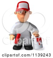 Clipart Of A 3d Sad Toon Guy House Painter 1 Royalty Free CGI Illustration by Julos