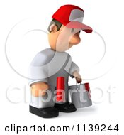 Clipart Of A 3d Sad Toon Guy House Painter 2 Royalty Free CGI Illustration by Julos