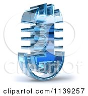 Clipart Of A 3d Microphone Glass Design 2 Royalty Free CGI Illustration by Julos