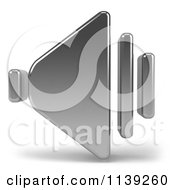 Clipart Of A 3d Chrome Speaker Icon On White Royalty Free CGI Illustration