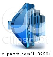 Clipart Of A 3d Blue Glass Speaker Icon On White Royalty Free CGI Illustration