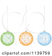 Clipart Of Colorful Snowflake Christmas Baubles Royalty Free Vector Illustration