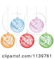 Clipart Of Colorful E Commerce Christmas Baubles Royalty Free Vector Illustration