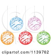 Clipart Of Colorful Christmas Baubles Royalty Free Vector Illustration